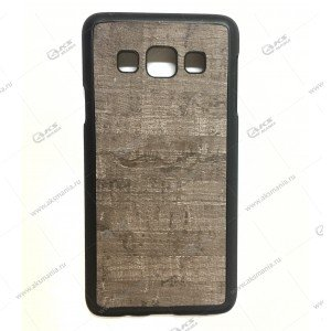 Пластик Samsung S6 Edge дерево серый