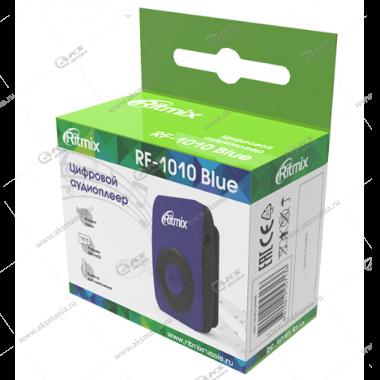 MP3 Плеер RITMIX RF-1010 синий, MicroSD/MicroSDHC (до 16 Гб), MP3, WMA