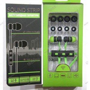 Наушники Bluetooth Perfeo SOUND STRIP внутриканальные с микрофоном зелёно-чёрные