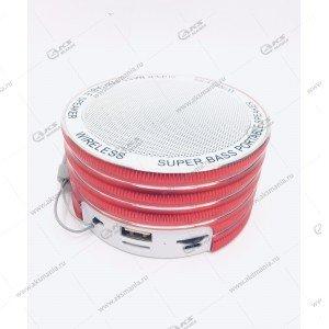 Колонка портативная  MINI Cl-669 BT FM TF USB  красный