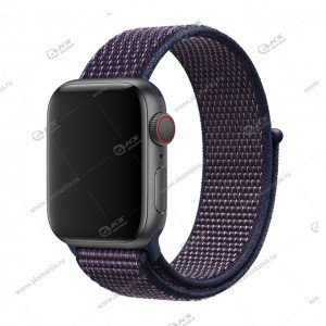 Ремешок нейлоновый для Apple Watch 38mm/ 40mm сине-фиолетовый
