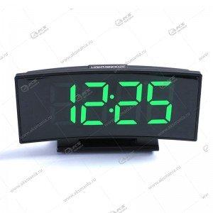 Часы настольные DS-3621 черно/зеленый