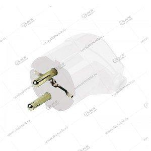 Вилка Smartbuy углавая с заземления, белая 16A 250В (SBE-16-P02-w)