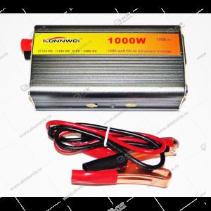 Автомобильный инвертор 12V на 220V 1000W 85,3A с USB портом