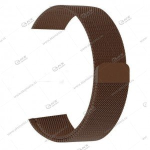 Ремешок миланская петля для Apple Watch 42mm/ 44mm коричневый