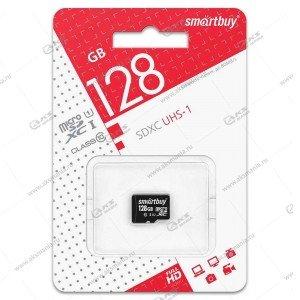 Карта памяти 128GB microSDXC class 10 SmartBuy без адаптера