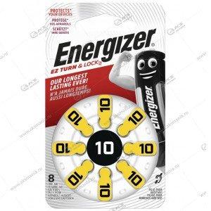 Элемент питания Energizer ZA10/8BL PR70 (для слуховых аппаратов)