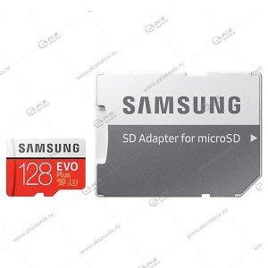 Карта памяти 128GB microSDXC class 10 Samsung Evo Plus с адаптером