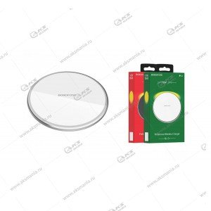 Беспроводное зарядное устройство Borofone BQ3 Preference 5W / 7.5W / 10W серебро
