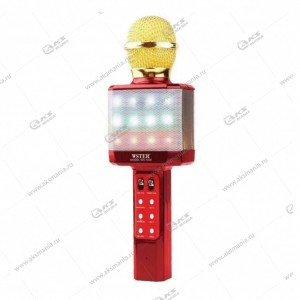 Беспроводной караоке микрофон WS-1828 красный