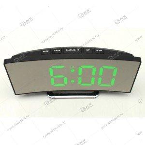 Часы настольные DS-6507 черно/зеленый