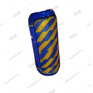 Колонка портативная Flip 5+ BT TF жетло-синий узор