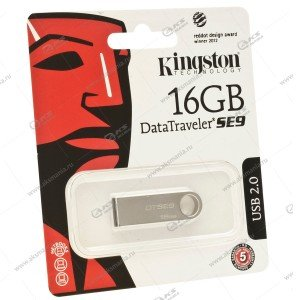 Флешка USB 2.0 16GB Kingston DTSE9 металл