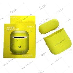 Силиконовый чехол для Airpods Bright Yellow