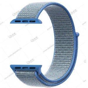 Ремешок нейлоновый для Apple Watch 42mm/ 44mm голубой