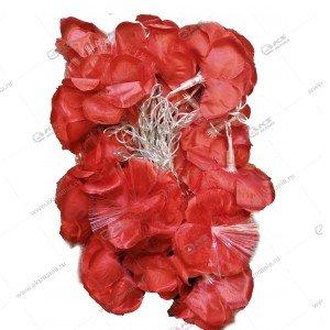 """Гирлянда """"Цветы"""" большие силиконовый провод красные"""
