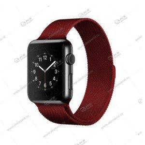 Ремешок миланская петля для Apple Watch 42mm/ 44mm бордовый