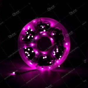 Гирлянда уличная 500LED 50м на бобине круглый диод розовый