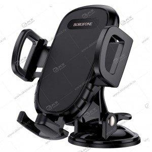 Автодержатель Borofone BH37 Route push type suction cup на торпеду/ для телефона черный