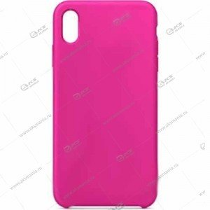 Silicone Case (Soft Touch) для iPhone XR малиновый