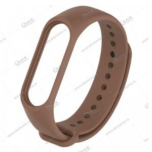 Ремешок на Mi Band 3/4 коричневый
