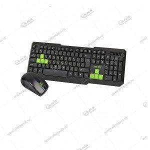 Клавиатура беспроводной набор Smartbuy SBC-230346AG-KN, черно-зеленый