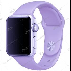 Ремешок силиконовый для Apple Watch 42mm/ 44mm лавандовый
