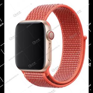 Ремешок нейлоновый для Apple Watch 38mm/ 40mm коралловый