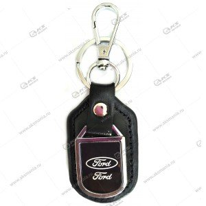 "Брелок для ключей металлический+кожа ""Ford"""