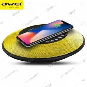 Колонка портативная Awei Y290 BT TF желтый