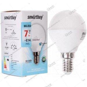 Лампа светодиодная Smartbuy P45-7W-220V-4000K-E14 (глоб, белый свет)