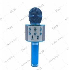 Беспроводной караоке микрофон WS-858 синий