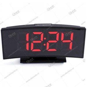 Часы настольные DS-3621 черно/красный