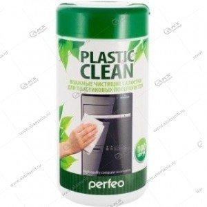 """Perfeo чистящие салфетки """"Plastic Clean"""", для пластиковых поверхностей, в тубе, 100шт."""