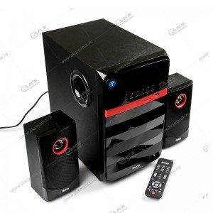 Колонка DIALOG AP-240B BT FM USB+SD 65W,пульт ДУ,черный