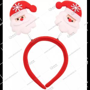 """Новогодний обруч на голову """"Снеговик или Дед Мороз"""" на пружинке"""