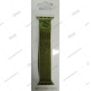 Ремешок миланская петля для Apple Watch 42mm/ 44mm зеленый
