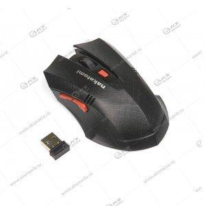 Мышь беспроводная MRON-04U Nakatomi Navigator RF 2.4G Optical-6кнопок+ролик прокрутки,USB,чёрн