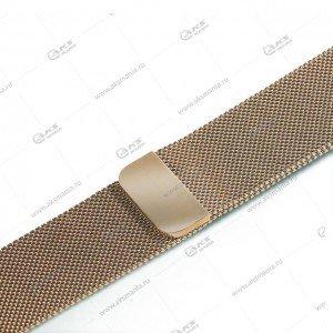 Ремешок миланская петля для Apple Watch 42mm/ 44mm светло-золотой