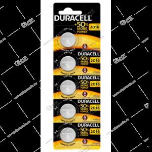 Элемент питания Duracell CR2016/5BL (EU)