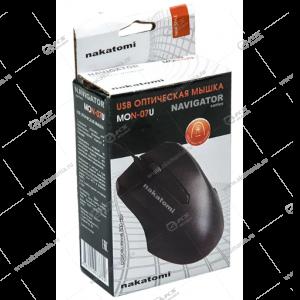 Мышь проводная MON-07U Nakatomi Navigator 3 кнопки + ролик прокрутки,USB,чёрн