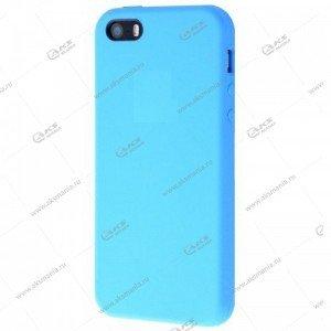 Silicone Case (Soft Touch) для iPhone 5/5S/5SE голубой