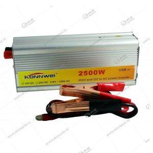 Автомобильный инвертор 12V на 220V 2500W с USB портом