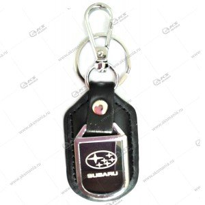 """Брелок для ключей металлический+кожа """"Subaru"""""""