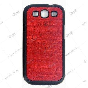 Пластик Samsung S6 дерево красный