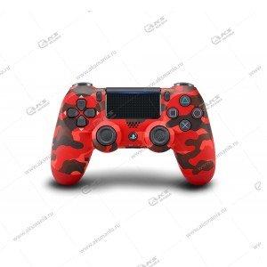 Gamepad PS4 Dualshock 4 wireless камуфляж красный