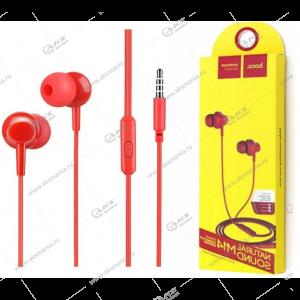 Наушники Hoco M14 с микрофоном красный