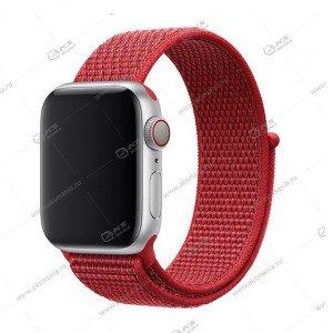 Ремешок нейлоновый для Apple Watch 38mm/ 40mm красный