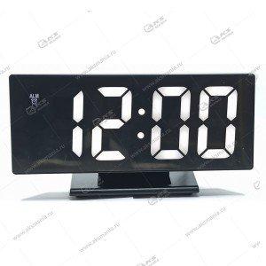 Часы настольные DS-3618L черно/белый