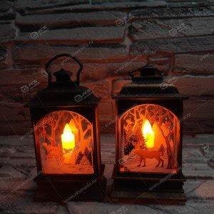 Декоративный фонарь со свечой 13х5см